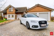 White Audi Q3 Beautified by Aftermarket Parts