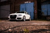 Revised Face of White Audi Q3 with Custom Parts