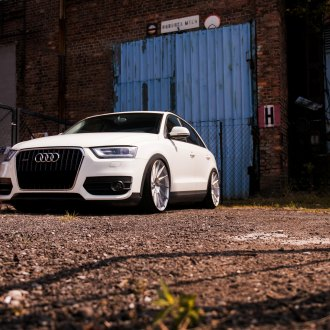 White Audi Q3 with Custom Front Bumper - Photo by JR Wheels