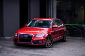 Red Audi Q5 Goes in Style with Crystal Clear Headlights