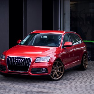 Red Audi Q5 with Crystal Clear Headlights - Photo by JR Wheels