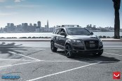 Gray Audi Q7 Gets Upgraded in the Front and in the Rear
