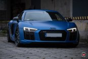 Matte Blue Paint Transforms Audi R8 with Style