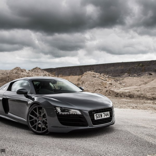 Custom audi r8 images mods photos upgrades carid gallery black audi r8 with custom led headlights photo by vossen publicscrutiny Images