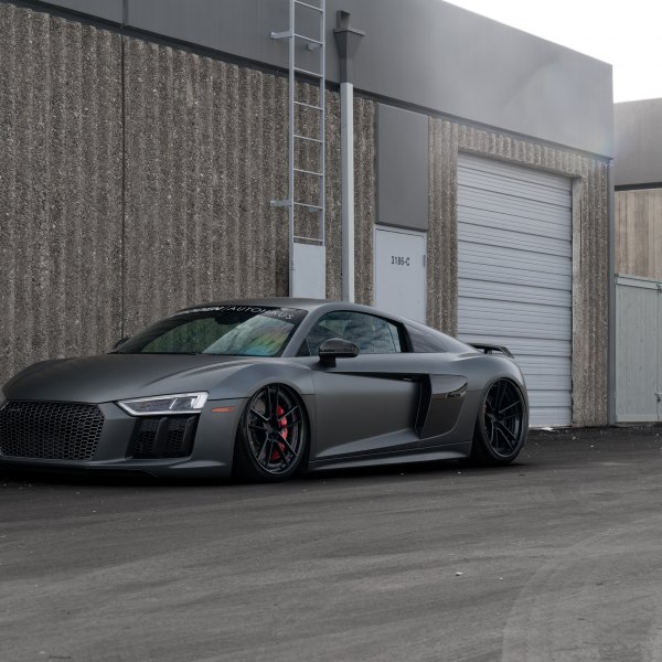 Custom audi r8 images mods photos upgrades carid gallery gray matte audi r8 with custom front bumper photo by rotiform publicscrutiny Images