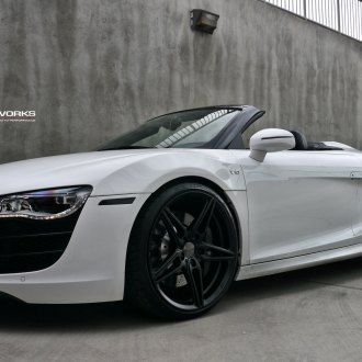 audi r8 convertible white. custom white convertible audi r8 v10 photo by ace alloy