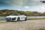 Forged Vorsteinver Wheels Adorning White Convertible Audi R8