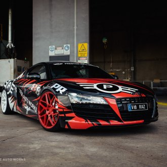 Custom audi r8 images mods photos upgrades carid gallery custom painted debadged audi r8 on vossen rims photo by vossen publicscrutiny Images