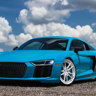 Blacked Out Mesh Grille on Blue Audi R8 - Photo by Anrky Wheels