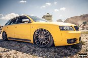 Lemon Yellow Audi S4 Avant With a Low Stance and Black Rotiform Wheels