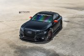 Audi S4 Never Looked So Good: Blacked Out and Fitted with Strasse Wheels