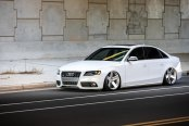 Living Low Life: White Lowered Audi S4 with Custom Parts