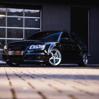 Black Audi S4 with Crystal Clear Headlights - Photo by JR Wheels