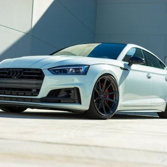 Blacked Out Grille on White Audi S5 - Photo by Vossen