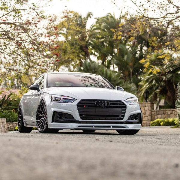 White Audi S5 with Custom Headlights - Photo by Vossen