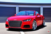 Angry Red Audi TT Roadster On VPS315T by Vossen