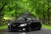 Stanced Audi TT with All Balck Rotiform CUP Rims