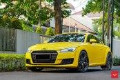 Yellow Audi TT Gets a Distinct Look with Vossen Wheels