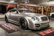 Luxurious Gray Bentley Continental Boasting Carbon Fiber Elements