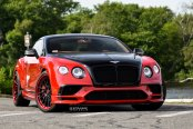 Exclusive Combination of Red and Black Paint on Bentley Continental