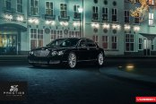 Prestigious Black Bentley Flying Spur Fitted with Chrome Details