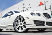 Clear Tuning for Stunning White Bently Flying Spur