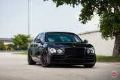Totally Blacked Out Bentley Flying-Spur Rocking Vossen Wheels