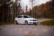 Baby White Bimmer: BMW 1-Series with Custom Halo Headlights