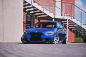 Tuned Blue BMW 1-Series with Crystal Clear Eyes