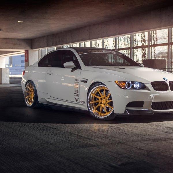 Custom White Debadged BMW 3 Series