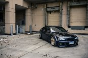 Blue BMW 3-Series Gets All the Attention with Carbon Fiber Hood and Gold Rims