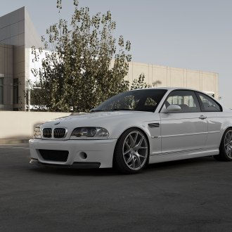 White BMW 3 Series With Chrome Billet Grille