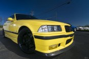Modern Custom Parts Revising the Front End of Yellow BMW 3-Series