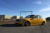 Yellow BMW 3-Series Customized in JDM Style