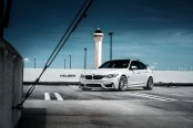White BMW M3 Shod in Velgen Wheels and Emphasized with Custom Parts