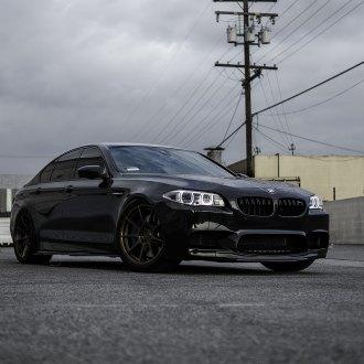 Carbon Fiber Front Lip On Black BMW 5 Series