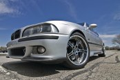 Gray Pride:BMW 5-Series on Custom Chrome Wheels