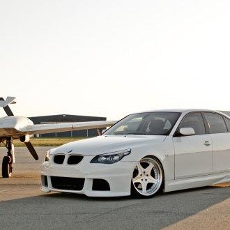Custom Front Bumper On White BMW 5 Series