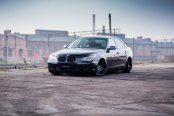 Hiper Black JR Wheels Giving BMW 5-Series a Mysterious Appearanc