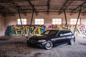 Lowered and Personalized Black BMW 5-Series