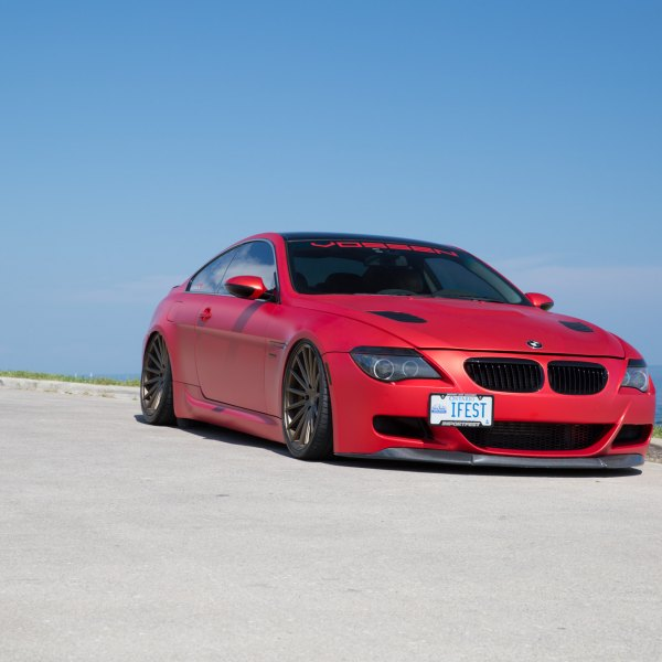 Custom 2007 bmw 6 series images mods photos upgrades carid red matte bmw 6 series with custom body kit photo by vossen publicscrutiny Images