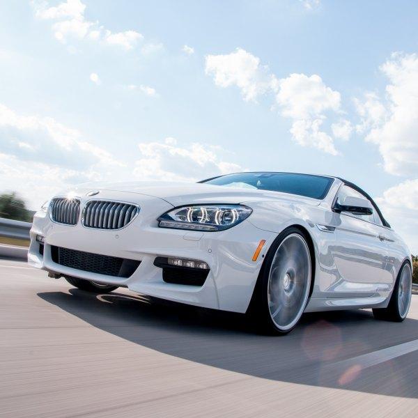 Custom White BMW 6 Series With Halo Headlights