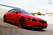 Absolute Eye- Candy: Matte Red BMW 6-Series on Color Matched Multispoke Rims