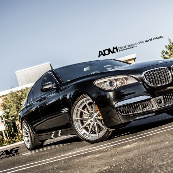 Gloss Black BMW 7 Series With Halo Headlights
