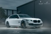 Beast Mode On: White BMW 7-Series Features Aftermarket Halo Headlights