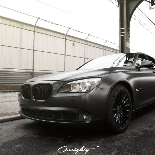 Front Bumper With Fog Lights On Gray BMW 7 Series