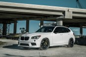 Imposing White BMW X1 on Velgen Rims