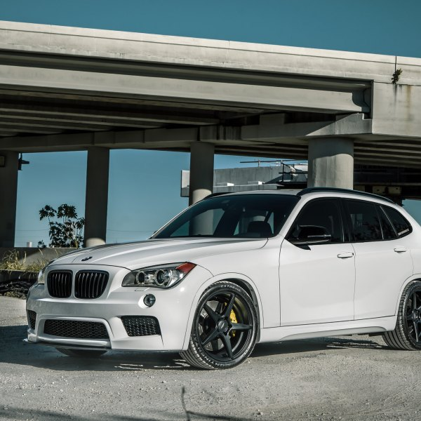 White BMW X1 With Carbon Fiber Front Lip