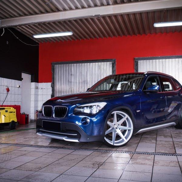 Custom Halo Headlights On Blue BMW X1