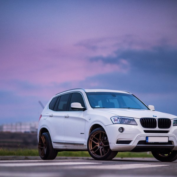 White BMW X3 With Custom Front Bumper